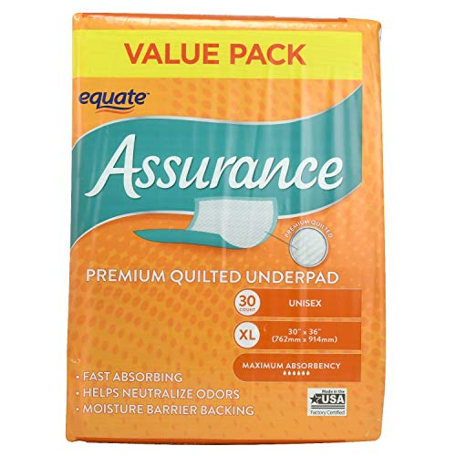 (Assurance Premium Quilted Underpad, Value Pack, XL 30 COUNT (1 Pack))
