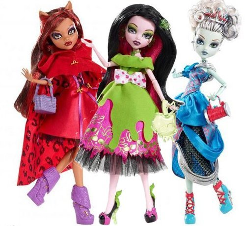 [Monster High HALLOWEEN FRIGHT NIGHT COSTUME PARTY] (Halloween Little Dead Riding Hood Costume)