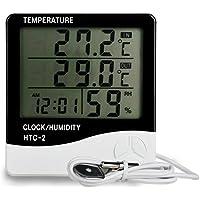 KKmoon HTC-2 Numérique Température et Humidité Compteur Intérieur et Extérieur Grand Écran Affichage Temps Calendrier Alarme Thermomètre et Hygromètre