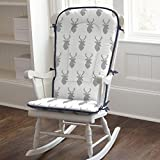 Carousel Designs Silver Gray Deer Head Rocking Chair Pad