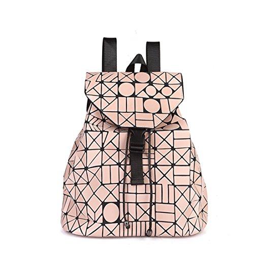 MATAGA - Bolso mochila  de poliuretano para mujer Rosa