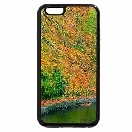 iPhone 6S Case, iPhone 6 Case (Black & White) - stone path besides a lake in autumn
