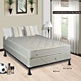 Continental Sleep Hollywood Collection Orthopedic Fully Assembled Mattress and 4'' Split Box Spring Set - Ample Support for Your Back - Premium 357 Coil Innerspring - Twin
