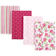 Hudson Baby Baby Layered Flannel Burp Cloth, Rose Pack, One Size