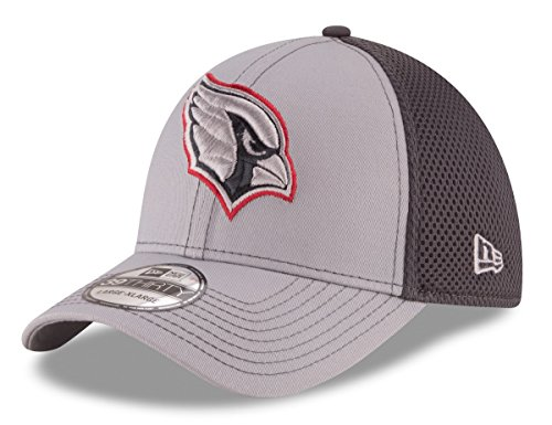 New Era NFL Arizona Cardinals Grayed Out NEO 2 39THIRTY Stretch Fit Cap, Large/X-Large, Gray