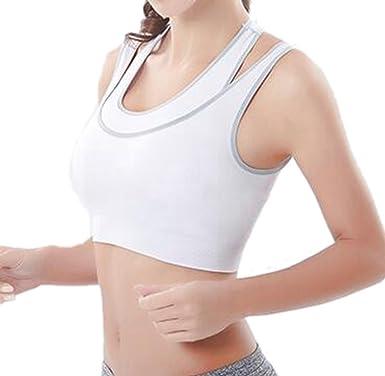 INIBUD - Sujetador deportivo para mujer, acolchado, sin aros, con espalda estilo nadadora