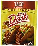 Mrs Dash Seasoning Mix - Taco - All Natural - Salt-Free - Net Wt. 1.25 OZ (35 g) Each - Pack of 4 Packets