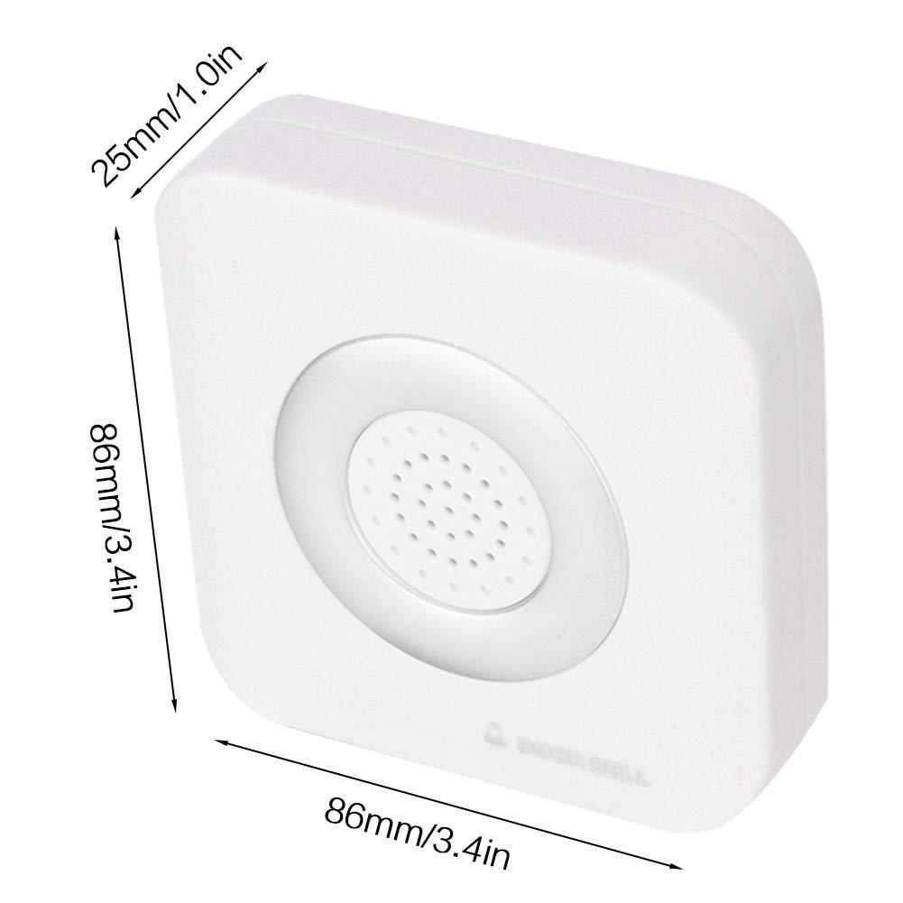 Kafuty Timbre de la Puerta Sistema de Alarma Timbre con Cable de 12 V 4 Core Ding Dong Timbre para el Sistema de Control de Acceso de la Oficina en el hogar