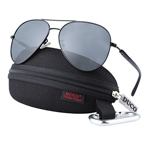 LUENX Mens Aviator Sunglasses Polarized :UV 400 Protection M