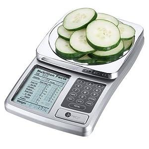 Kitrics Digital Nutrition Scale (Silver) 51KFX 2BtErCL