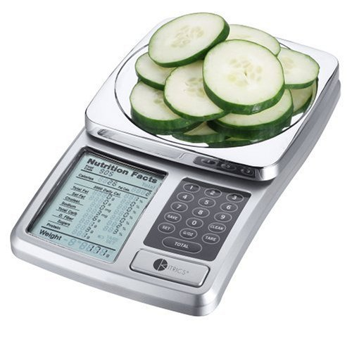 amazon com kitrics digital nutrition scale silver digital