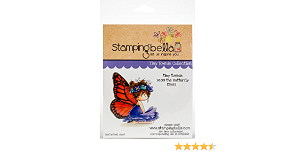 Bess The Butterfly Tiny Townie Cling Rubber Stamp STAMPING BELLA EB665 New