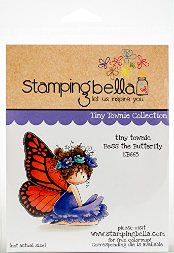 Stamping Bella EB665 Cling Stamps Bess The Butterfly, Multi by Stamping Bella