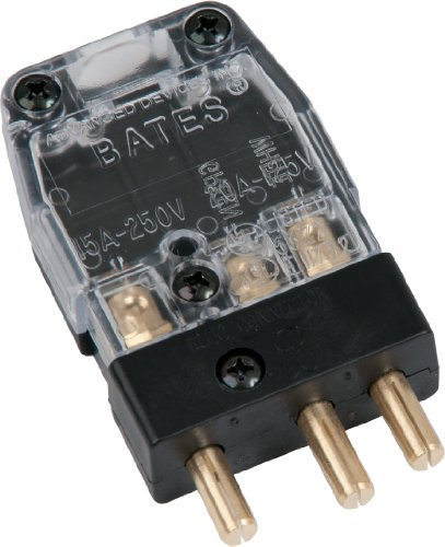 Marinco 20M-X Bates Stage Pin 20 Amp, 125 Volt, Male Inline - Clear Cover