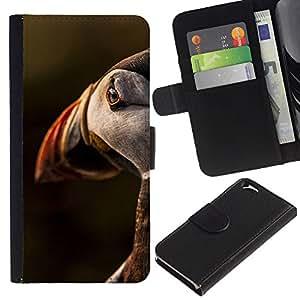 Paccase / Billetera de Cuero Caso del tirón Titular de la tarjeta Carcasa Funda para - bird sunset cute ornithology nature - Apple Iphone 6 4.7