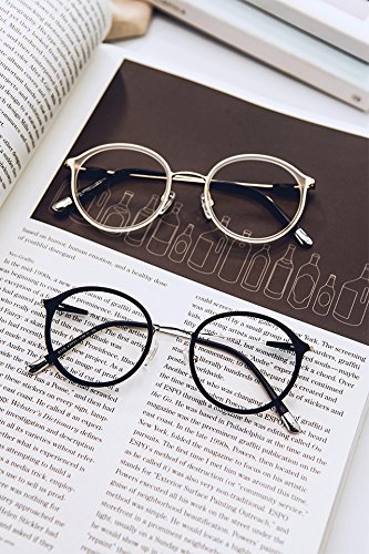 Antique Transparent (Generic elegant_transparent_ glasses_box_frame ultra-light_antique_round_box_90_ short-sighted_ glasses_box_men_and myopia_lens)