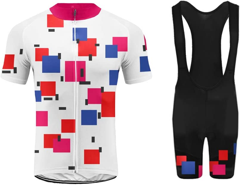 Padded Shorts Cycling Clothing Set Riding Sportswear Uglyfrog Celebrity Plaid Painting Design Breathable Comfortable Short Sleeve Jersey