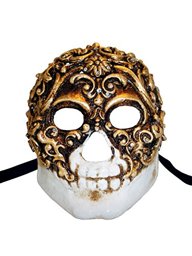 Venetian Full Face Mask Teschio Baroque for Men