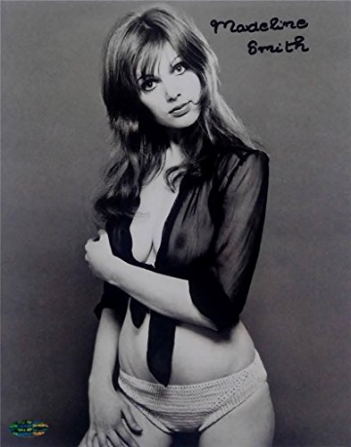 (Madeline Smith Signed 8x10 Photo Miss Caruso James Bond Girl OC Dugout Holo OC3)