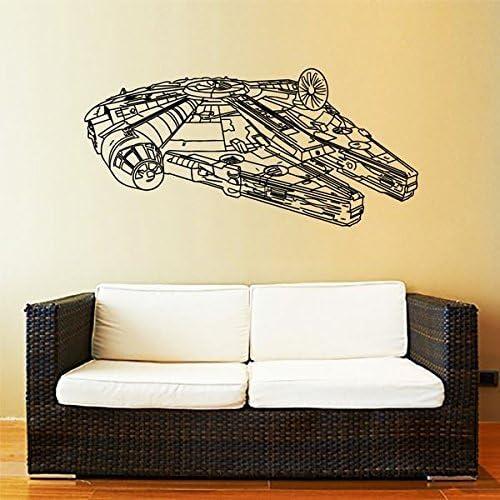 Millennium Falcon Star Wars Vinyl Wandkunst Aufkleber Film Schlafzimmer
