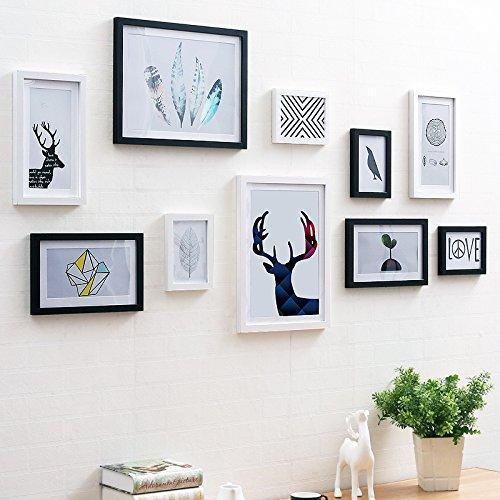 Bilderrahmen* Eine einfache und moderne Einrichtung des Wohnzimmer Schlafzimmer Wandmalerei Kinderzimmer Cafe Fresco Hirschkopf Wandmalereien, 10 ,090 Box Black Box + Weiß, Wald, die Zelle