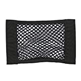 LBgrandspec Car Rear Seat Rear Seat Elastic Storage Mesh Storage Bag Pocket Black