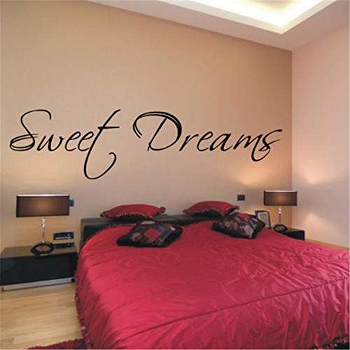 Teuiya Wall Sticker Removable Home Decor Wall Vinyl Decals Sweet Dreams for Master Bedroom Home Décor