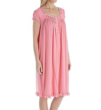 Eileen West Cherry Blossom Modal Waltz Nightgown (5019868) M Solid Carnation 5712ca8c7