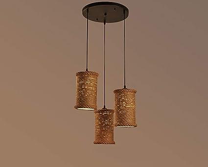 Ame lampadario gbyzhmh in stile americano ferri rustici corda di