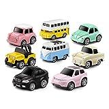LEZHI Pull Back Cars Alloy Vehicles Set Mini Car Model Construction and Raced Trucks for Toddlers Gift 8 PCS
