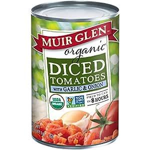 Muir Glen Organic Diced Tomatoes, Garlic & Onion, 14.5 oz