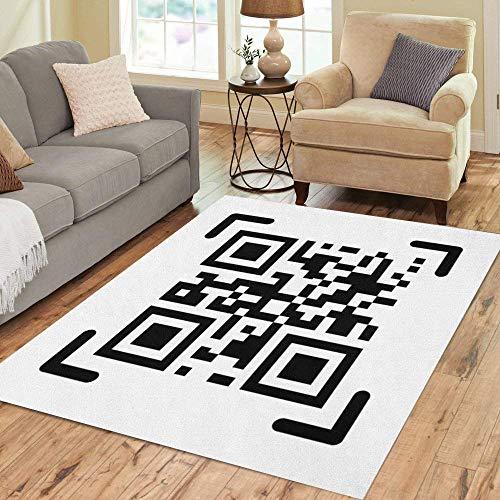 - Pinbeam Area Rug Scan Qr Code Qrcode Bar Barcode Label Mobile Home Decor Floor Rug 2' x 3' Carpet
