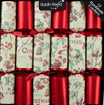 12 x Country Christmas Red Christmas Crackers (Christmas Musical Crackers)