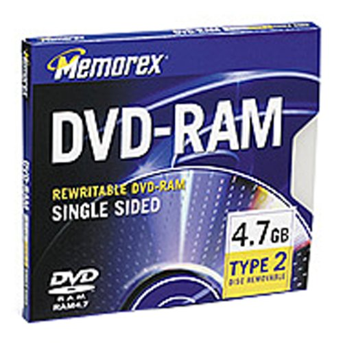 Memorex 4.7GB DVD-RAM (3-Pack) by Memorex