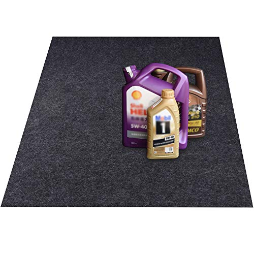 KALASONEER Oil Spill Mat,Absorbent Oil Mat Reusable Washable,Contains Liquids, Protects Driveway Surface,Garage Or Shop,Parking,Floor(36inches x 36inches)