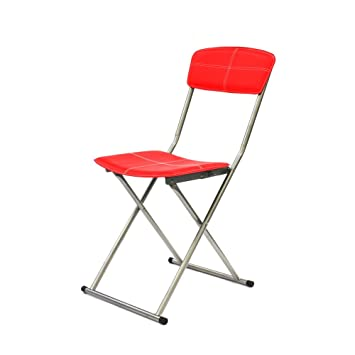 THE HOME DECO FACTORY - Silla Plegable Metal/PU, Rojo, 40 ...