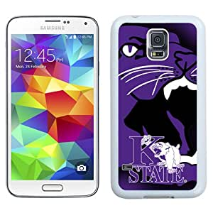 Fashionable And Unique Custom Designed With NCAA Big 12 Conference Big12 Football Kansas State Wildcats 2 Protective Cell Phone Hardshell Cover Case For Samsung Galaxy S5 I9600 G900a G900v G900p G900t G900w Phone Case White