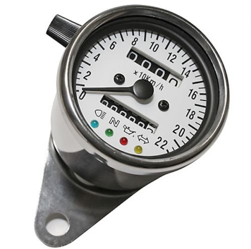60 mm in acciaio inox di Tacho tachimetro Cafe Racer Bopper Oldtimer Frecce Streetparts24