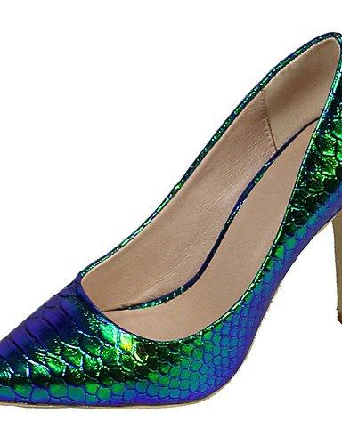 GGX/ Damen-High Heels-Kleid / Lässig / Party & Festivität-PU-Stöckelabsatz-Absätze / Spitzschuh-Blau blue-us7.5 / eu38 / uk5.5 / cn38