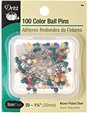 Dritz 100-Piece Color Ball Pins