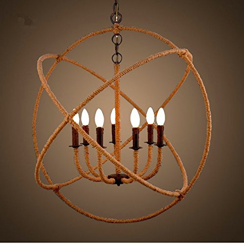 - CLG-FLY American Industrial Wind Chandelier Wrought Iron Chandelier Rope Cafe Dining Room Chandelier 8103-8,8 Head Pendant,Since The Distribution Of,with best service