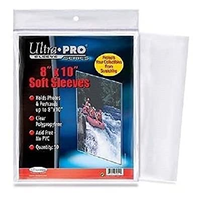 1 Pack (50) Ultra Pro 8 X 10 Photo Storage Sleeves Holders Protection 8x10: Home & Kitchen