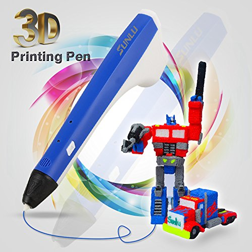 SUNLU 3D Drawing Pen, M1 Adults Kids, 3D Printer Printing Pen - USB Power, 2PCS Filament Refills, PLA and PCL Compatible - Blue