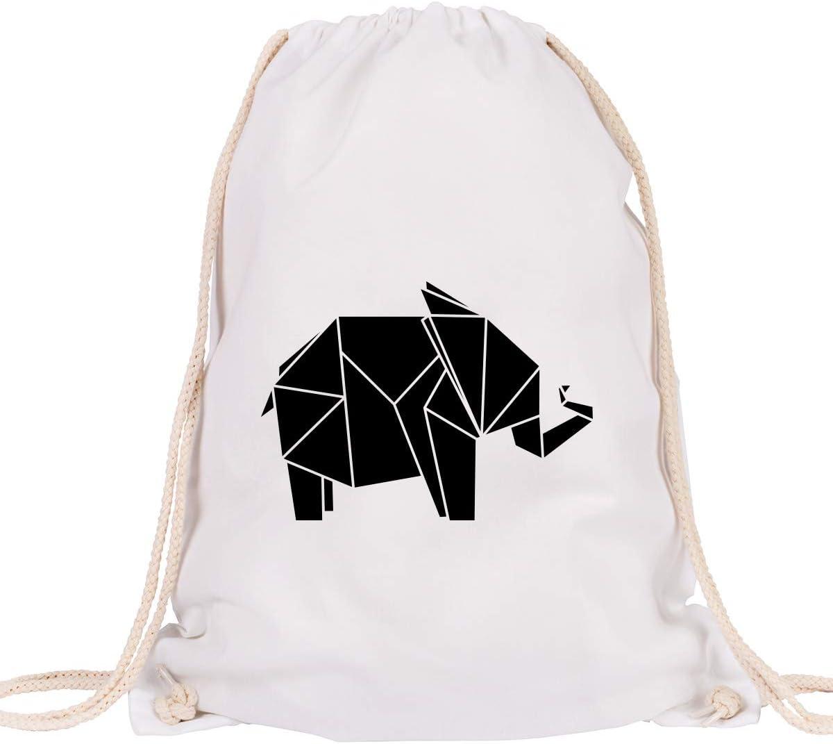 """JUNIWORDS Turnbeutel /""""Origami Känguru/"""" verschiedene Farben Geschenk Tasche"""