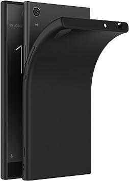COPHONE Funda Negro Sony Xperia XA1, Negro Silicona Fundas para ...