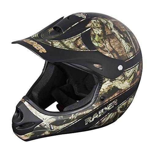Raider Youth Kids Boys Girls Ambush MX Off-Road Helmet (Mossy Oak Break Up Infinity, Medium)