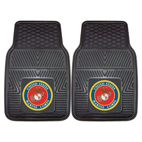 Fanmats Military  'Marines' Vinyl Heavy Duty Car Mat – 2 Piece