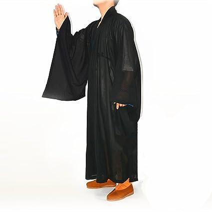 DHLink Shaolin Kung Fu Monje Budista meditación Túnica Largo ...