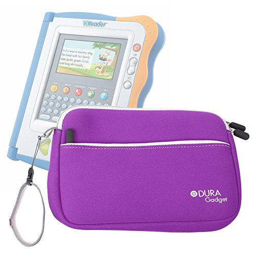 DURAGADGET Purple Water Resistant Neoprene Carry Case With Front Zip Pocket For Kids Vtech Storio Interactive E-Reading System, (Storio 2)