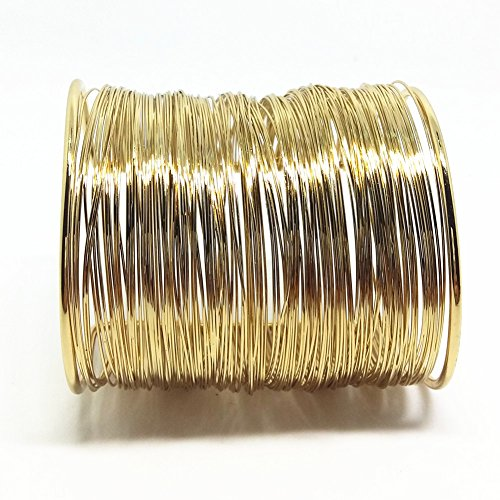 QTMY Alloy Metal Gold Thin Thread Wire Open - Gold Cuff Wide Bracelet
